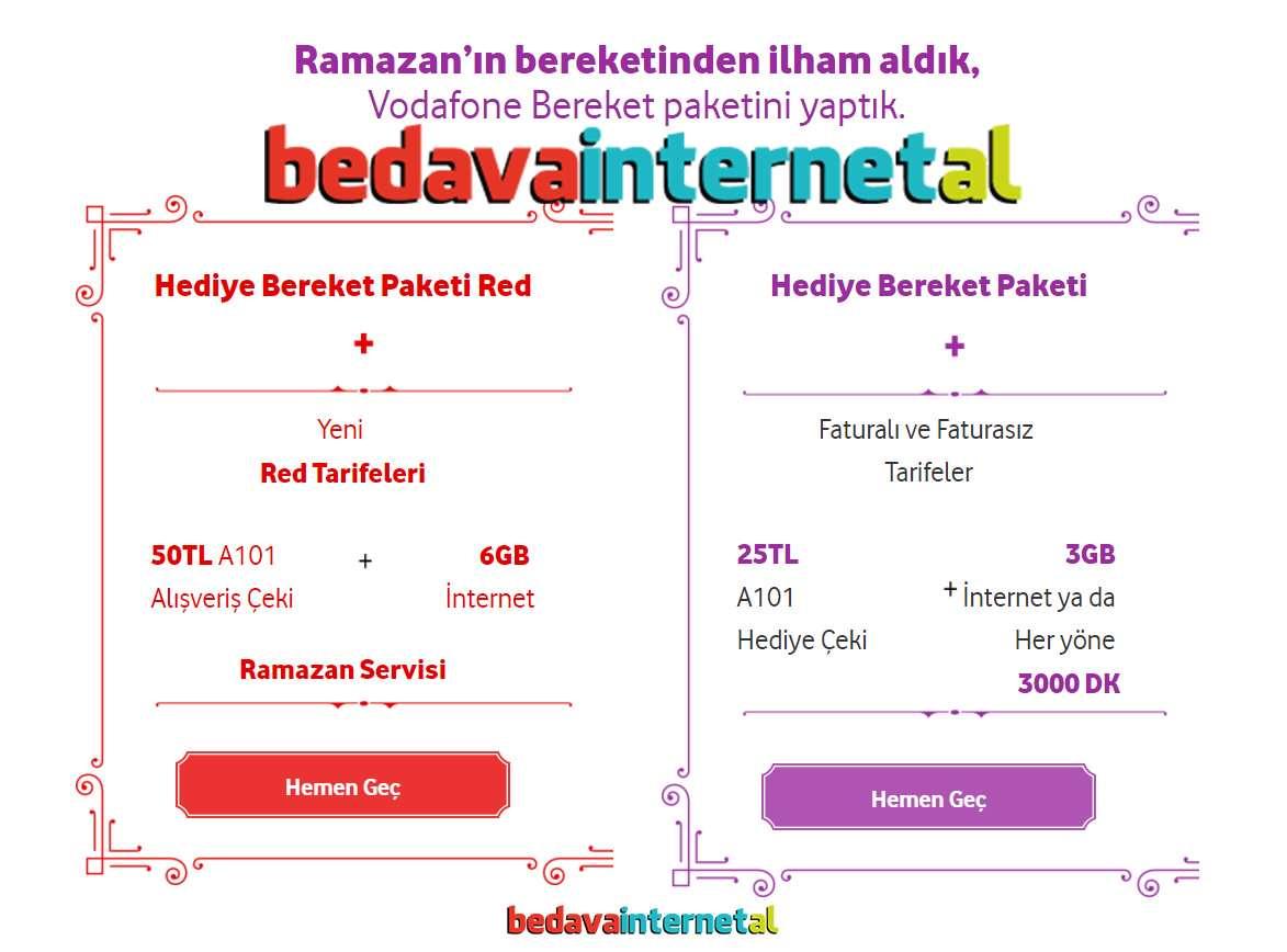 Vodafone Bereket Paketi