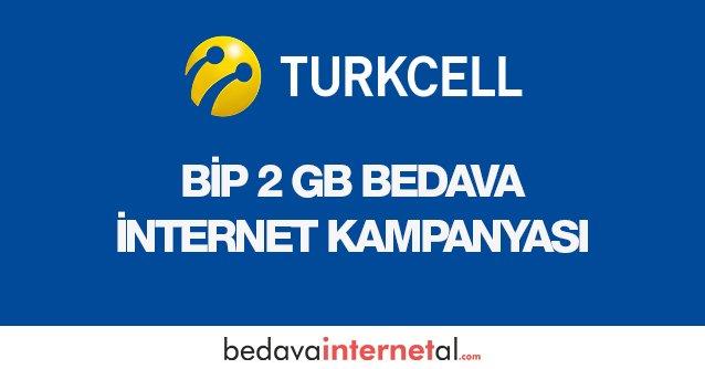 Bip 2 GB Bedava internet