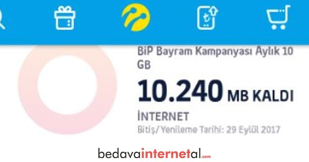 Bip Tatil 10 GB Bedava internet