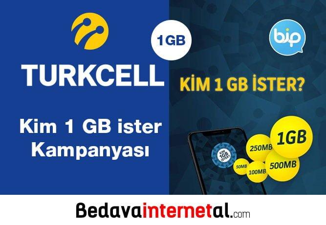 Turkcell Kim 1 GB ister