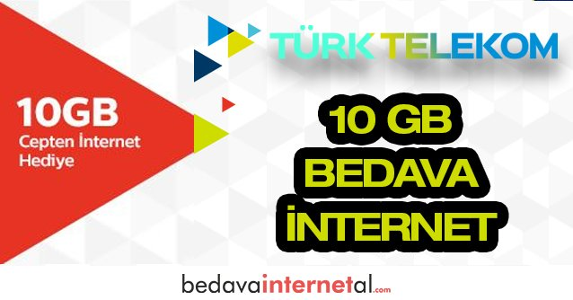 Türk Telekom 10 GB Bedava internet Paketi