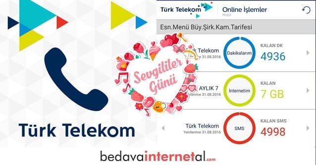 Türk Telekom 14 Şubat Bedava internet