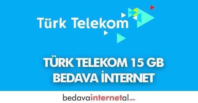 Türk Telekom 15 GB Bedava internet Paketi