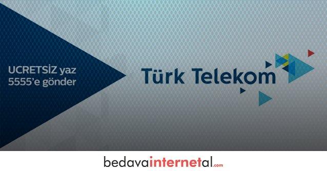 Türk Telekom 2018 Bedava internet Paketleri