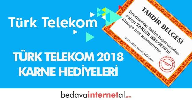 Türk Telekom 2019 Karne Hediyeleri