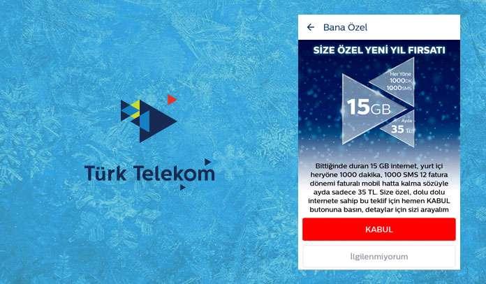 türk telekom hediye internet 2020