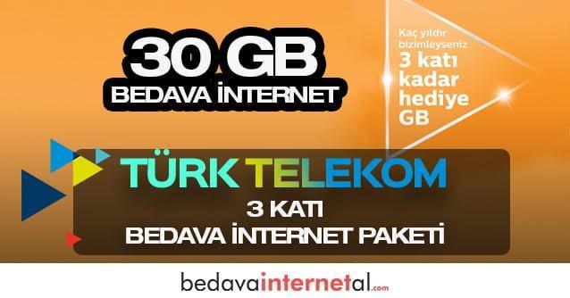 Türk Telekom 3 Katı Bedava internet