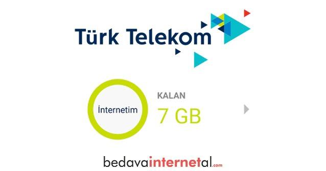 Türk Telekom 7 GB Bedava internet