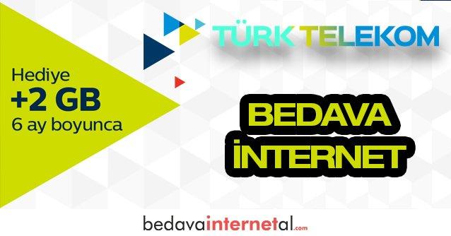 Türk Telekom Bedava internet Paketi 2 GB