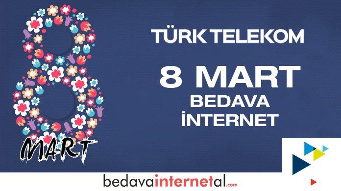 Türk Telekom Kadınlar Günü Bedava internet