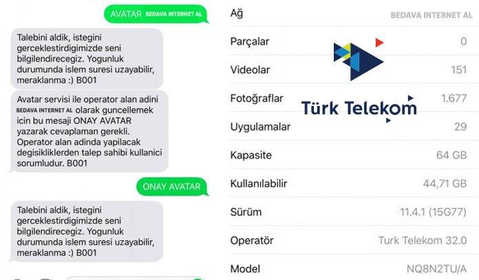 türk telekom operatör adı değiştirme