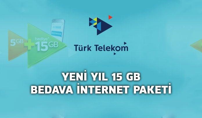 türk telekom bedava internet 2019