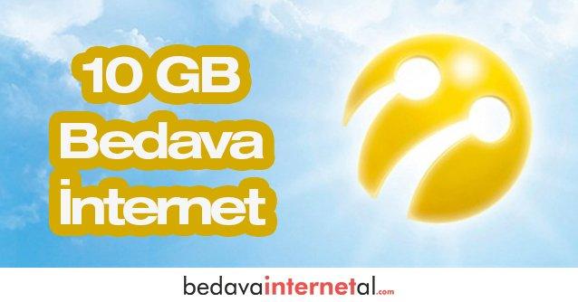 Turkcell 10 GB Bedava internet