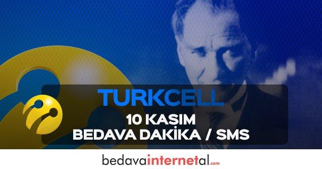 Turkcell 10 Kasım Bedava Dakika / Sms