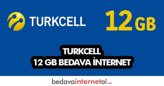 Turkcell 12 GB Bedava internet