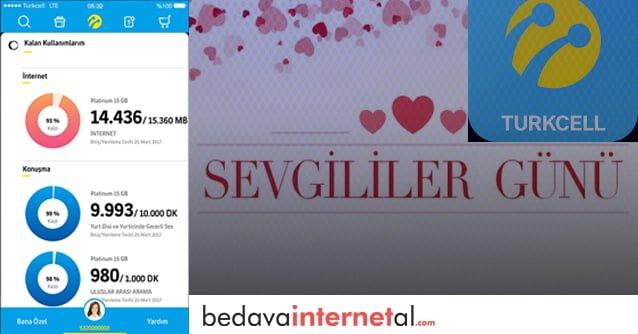 Turkcell 14 Şubat Bedava internet
