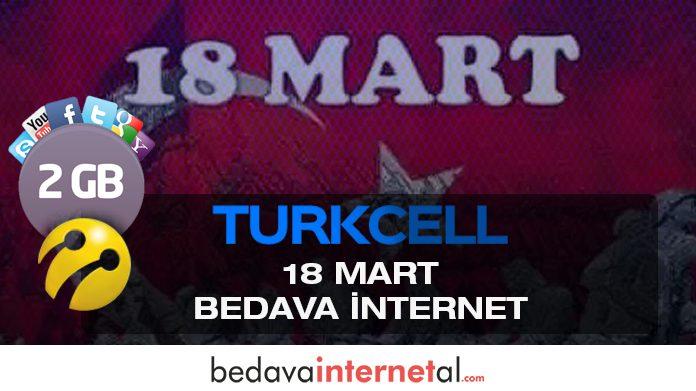Turkcell 18 Mart Bedava internet