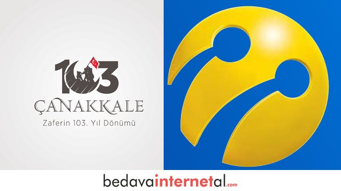Turkcell 18 Mart Çanakkale Bedava internet