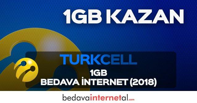 Turkcell 2019 1GB Bedava internet