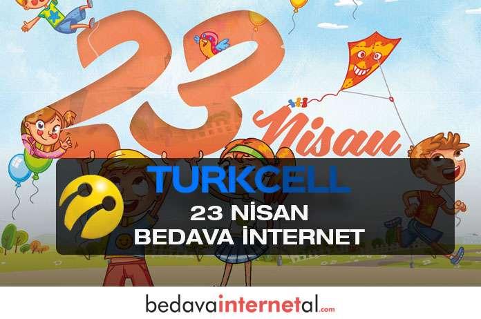 Turkcell 23 Nisan bedava internet hediyeleri