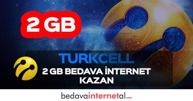 Turkcell 2 GB Bedava internet