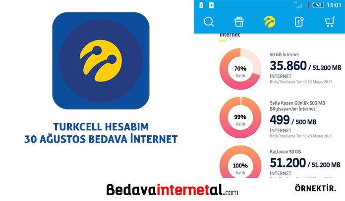 Turkcell bedava internet 30 ağustos