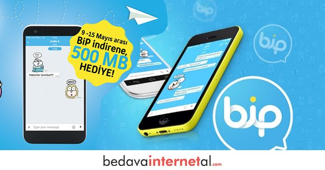 Turkcell Bip Bedava internet Paketleri