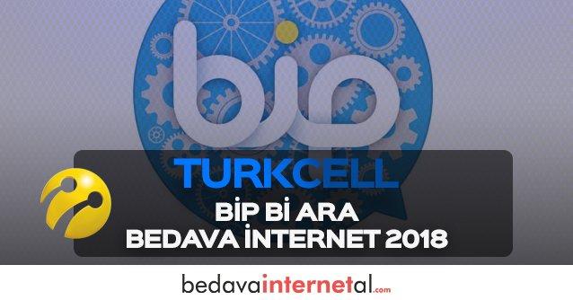 Turkcell BiP Bi Ara Bedava internet 2019