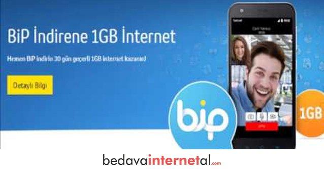 Turkcell Bip Yükle 1 GB Bedava internet