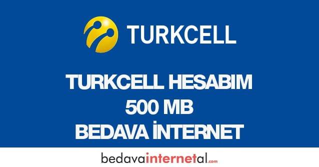 Turkcell Hesabım 500 MB Bedava internet