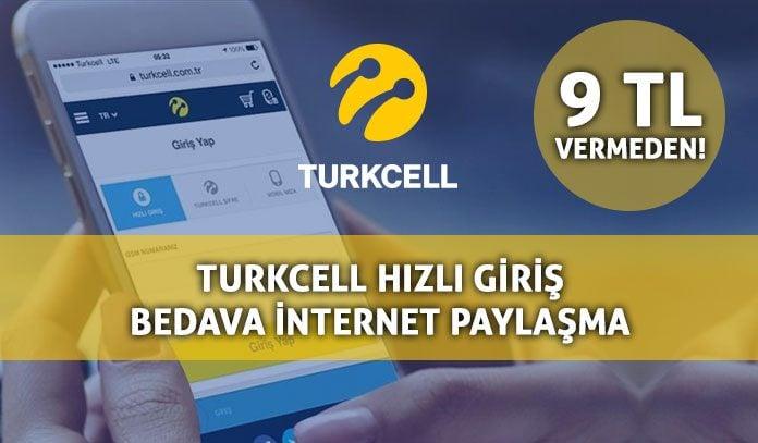 Turkcell Hızlı Giriş 2019