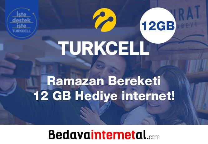 Turkcell 12 GB hediye