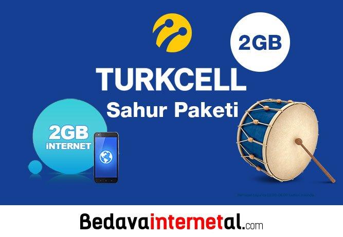 Turkcell sahur bedava internet