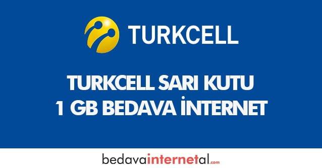 Turkcell Sarı Kutu 1 GB Bedava internet
