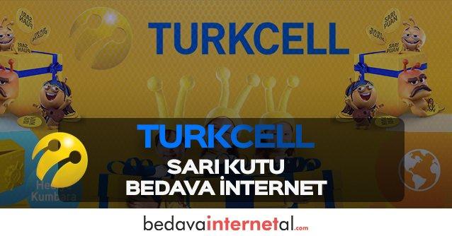 Turkcell Sarı Kutu Bedava internet