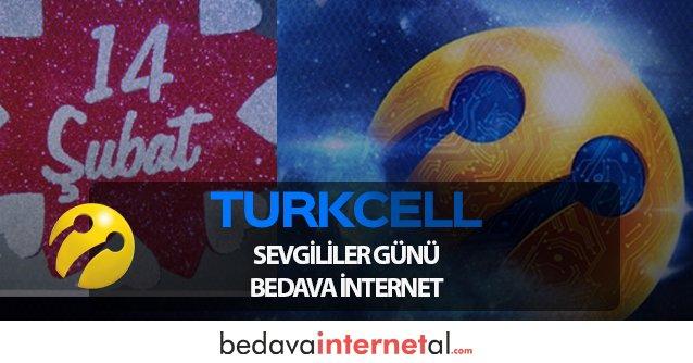 Turkcell Sevgililer Günü Bedava internet