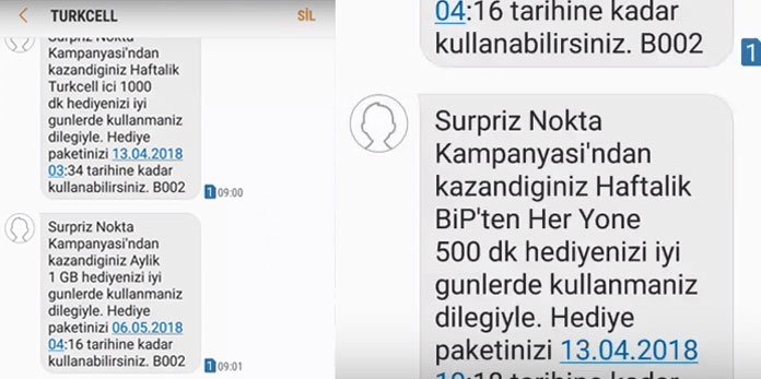Turkcell sürpriz nokta bedava internet