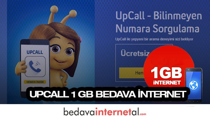 Turkcell UpCall 1 GB Bedava internet