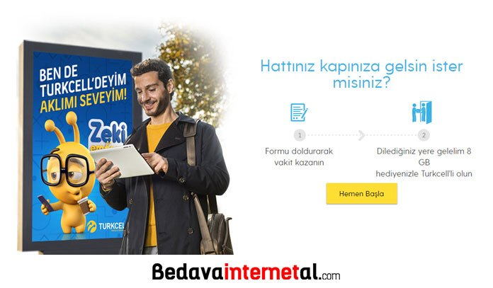 Turkcell 8 gb bedava internet