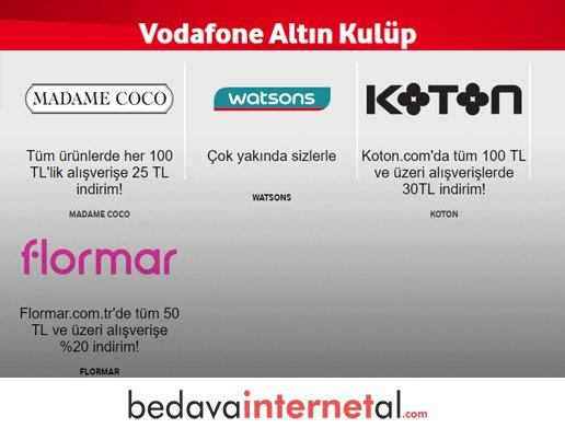 Vodafone Altın Kulüp Hediyeleri
