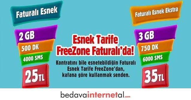 Vodafone Freezone Peketleri