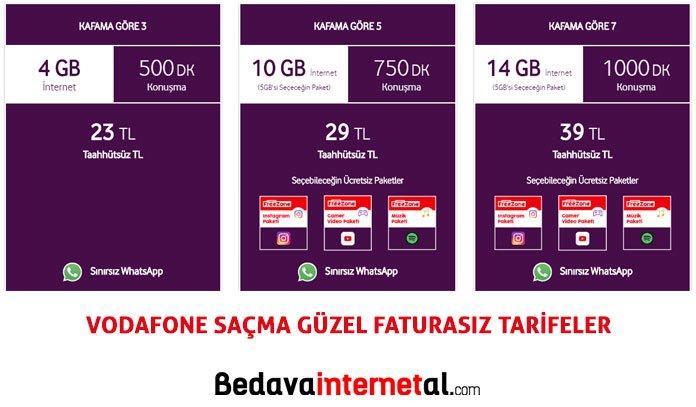 Vodafone saçma güzel paketler